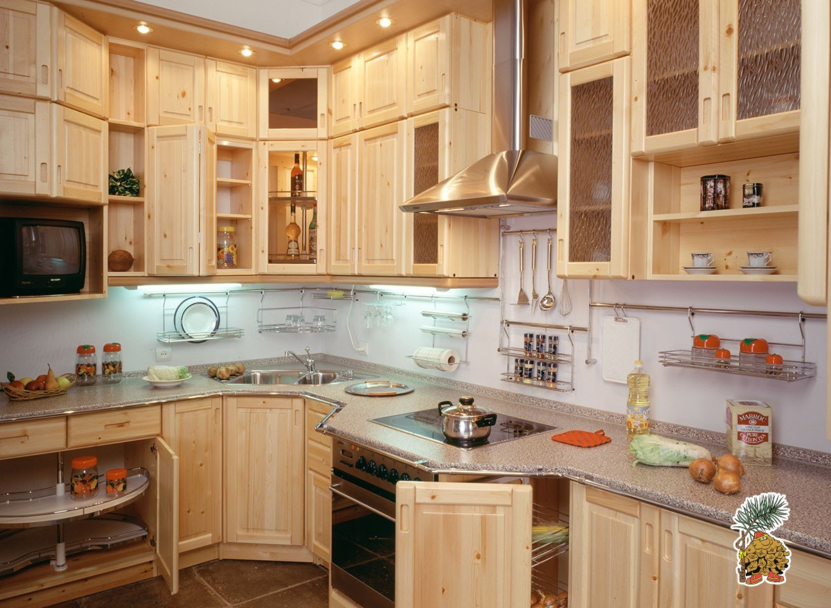 Кухни из натуральной сосны