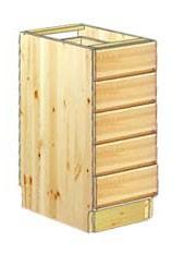 Кухонные тумбы с выдвижными ящиками из массива дерева купить или заказать в Москве