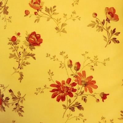 Варианты декора кухни тканью на сайте ТМТ. Ткань с крупным рисунком № 35 Красные цветы