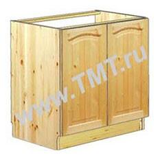 Шкаф под мойку для кухни 80 см из массива сосны - купить в Москве недорого