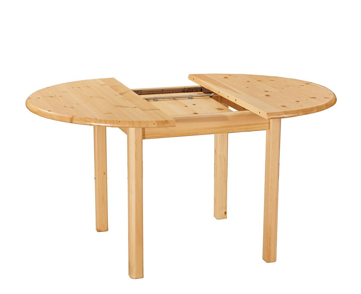 Раздвижной стол из карельской сосны круглый
