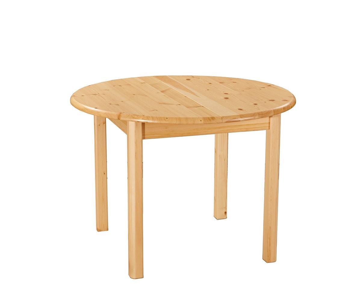 Меццо, круглый раздвижной стол из сосны