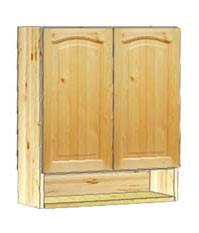 Верхний  кухонный шкафчик  навесной 60 с нишей внизу заказать со скидкой