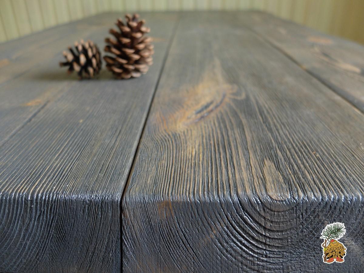 Столешница из массива для деревянных столов в стиле лофт на металлических ножках