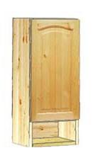 Шкаф кухонный навесной 30 с полкой внизу купить в Москве