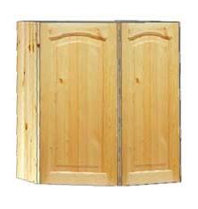 Купить угловой навесной шкаф на кухню 2-х дверный с доставкой в Москве и Московской области