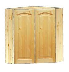 Купить угловой двухдверный навесной шкаф  на кухню в Москве