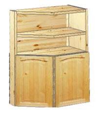 шкаф кухонный навесной усеченный 52 с нишей вверху