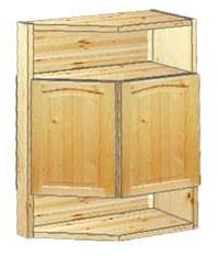 Шкаф кухонный навесной усеченный 52 с нишами