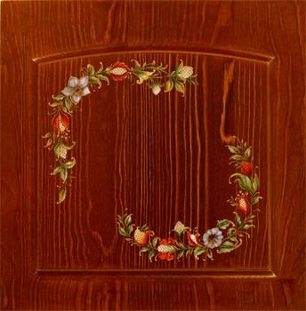 Роспись мебели из массива дерева цветами на заказ