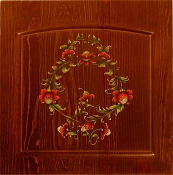 Мебель с росписью из массива. Художественная роспись акриловыми красками от автора.