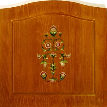 Расписная мебель на заказ недорого из массива сосны, березы и дуба