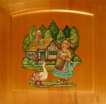Роспись мебели Москва, роспись детской мебели от компании ТМТ недорого