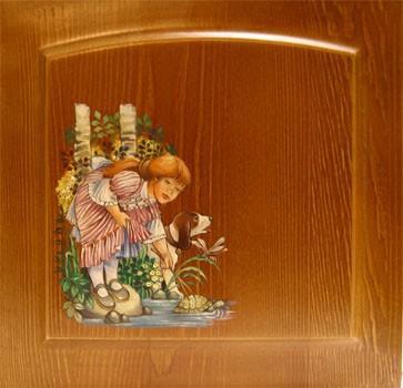 Художественная роспись мебели. Фасады с росписью в Москве