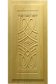 Филенка в кухонную дверку из сосны с резьбой «Фенно-Скандия» 1-1-К-74х40