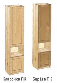 Шкаф узкий с дверьми и нишей в центре
