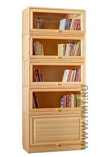 библиотека из сосны  (тумба и 4 полки)