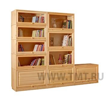 Домашняя библиотека из сосны на заказ