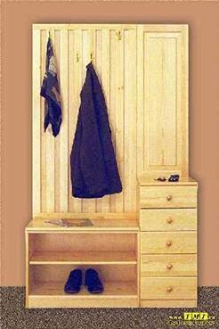 мебель для прихожих из дерева