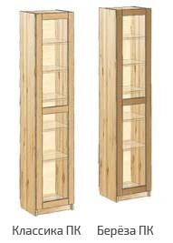 Узкий шкаф для книг с дверью