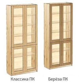 Шкаф для книг с дверьми со стеклом