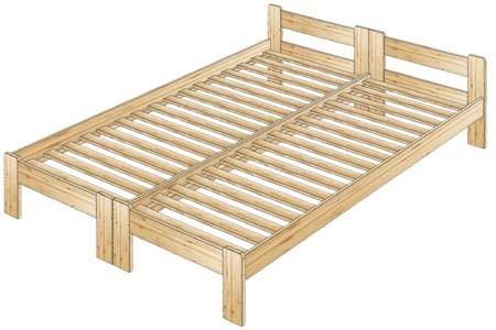 Двуспальная кровать из массива со спинкой