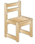 Детский стульчик из массива карельской сосны для второй возрастной группы