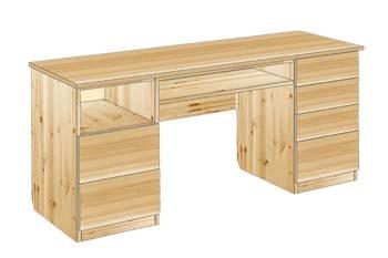 Письменный стол из массива дерева 2-х тумбовый №28