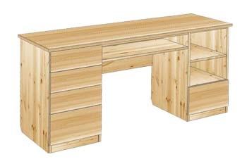 Письменный стол из массива дерева 2-х тумбовый №29