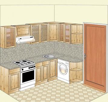 Угловая кухня из массива карельской сосны, купить на сайте tmt.ru недорого