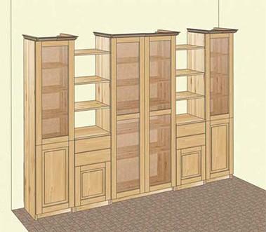 Мебель из сосны для книг