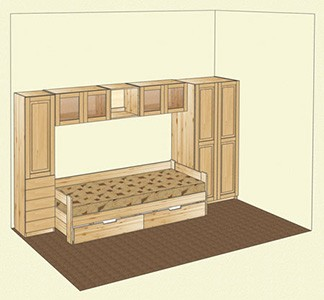 Комплект мебели для детской комнаты из массива сосны