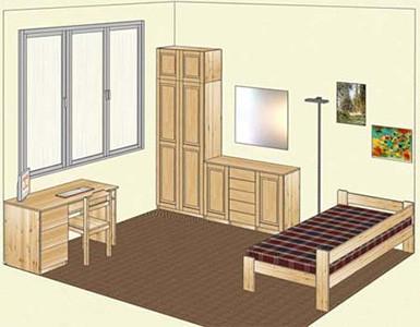 Мебель из сосны для детской комнаты