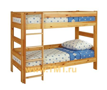 Экологичная двухъярусная кровать из сосны